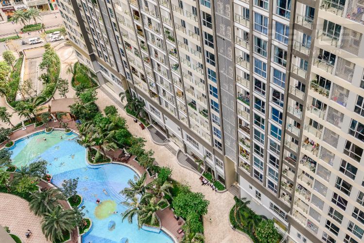 View Căn hộ Vinhomes Central Park 2 phòng ngủ tầng trung P3 hướng Tây