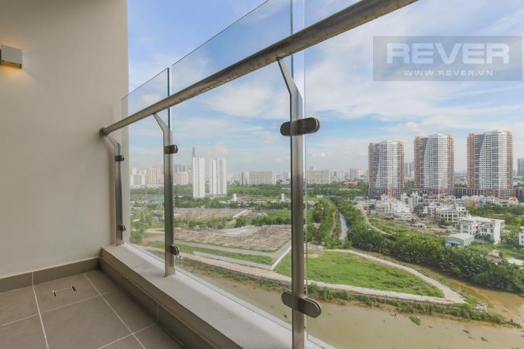 Balcony Cho thuê căn hộ Đảo Kim Cương - Diamond Island 2PN, tháp Canary, đầy đủ nội thất, view sông thoáng mát
