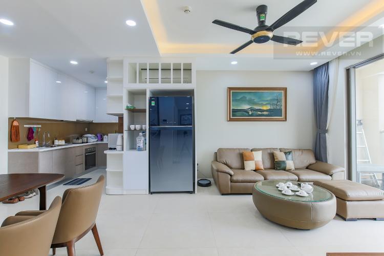 Phòng Khách Căn hộ Masteri Millennium tầng cao, 3PN, đầy đủ nội thất, view kênh Bến Nghé
