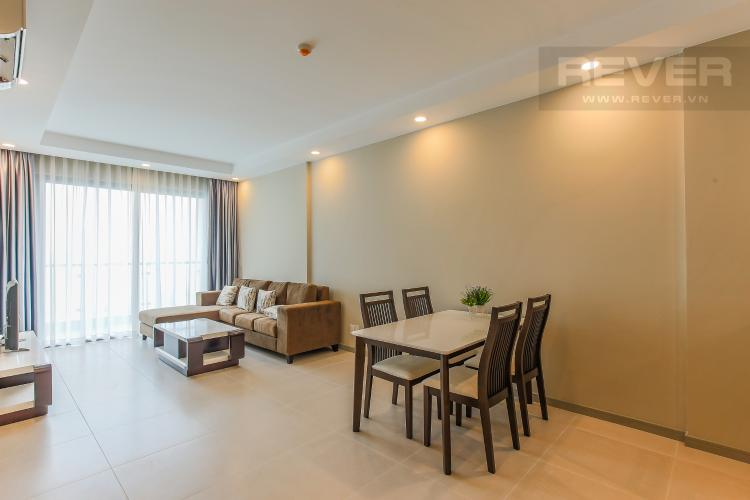 Phòng Khách Căn hộ The Gold View 2 phòng ngủ tầng cao A2 view hồ bơi