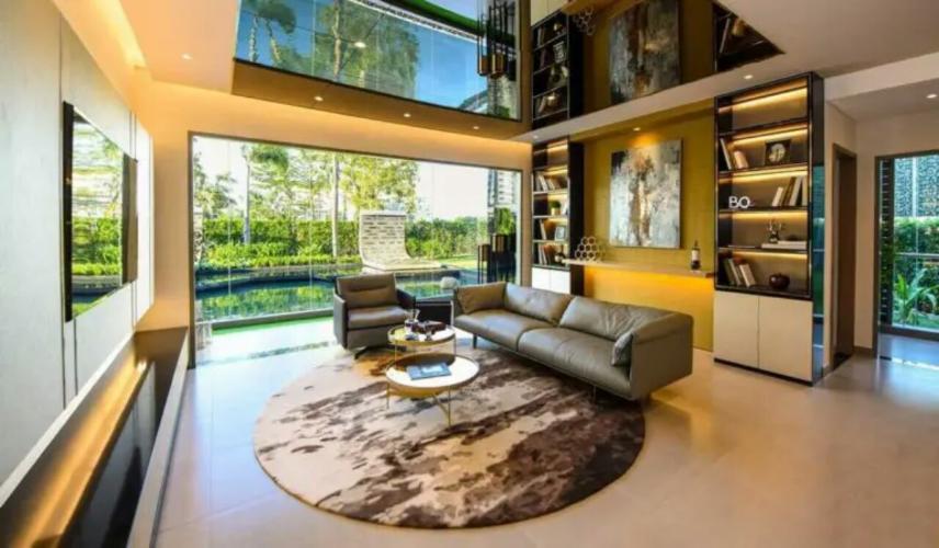 nhà mẫu căn hộ D'Lusso quận 2 Căn hộ D'Lusso nội thất cơ bản, view sông thoáng mát.