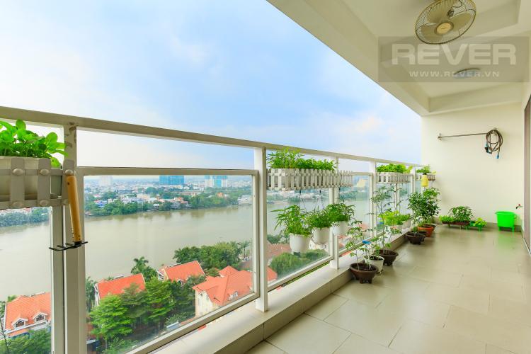Ban Công Căn hộ River Garden 2 phòng ngủ, tầng cao, view sông
