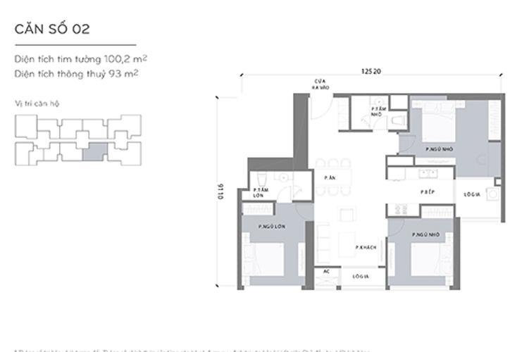 Căn hộ 3 phòng ngủ Căn hộ Vinhomes Central Park 3 phòng ngủ tầng cao L1 view sông