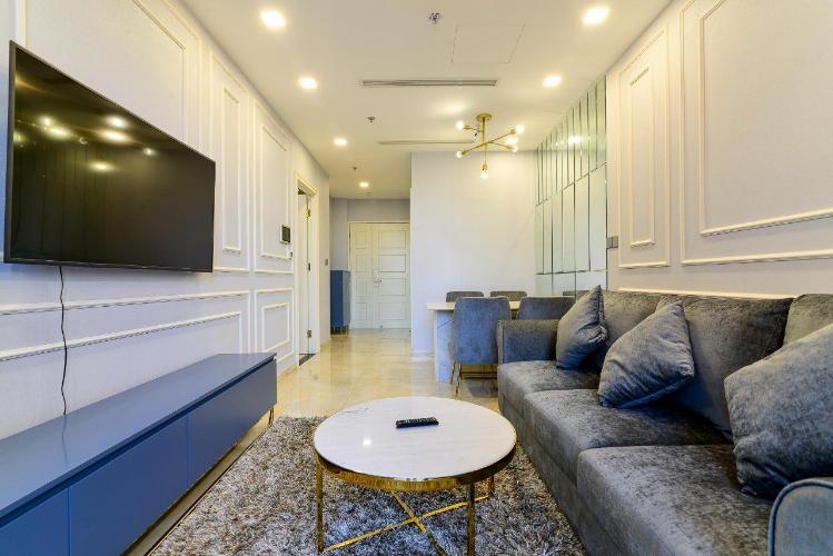 Phòng khách căn hộ Vinhomes Golden River Căn hộ Vinhomes Golden River tầng thấp đầy đủ nội thất tiện nghi.