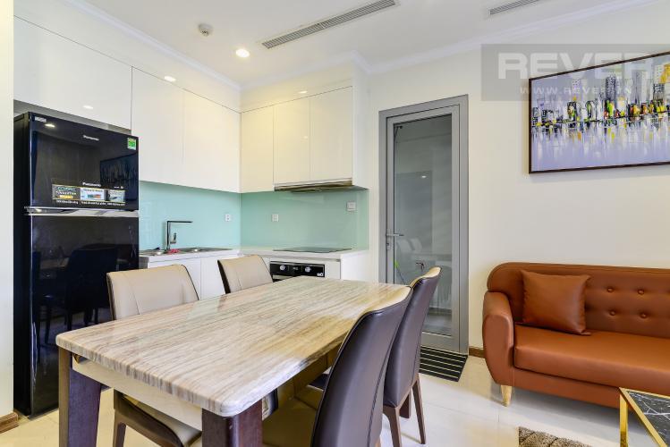 Phòng Ăn & Bếp Bán căn hộ Vinhomes Central Park 2PN tầng thấp tháp Landmark 3, đầy đủ nội thất, view nội khu đẹp