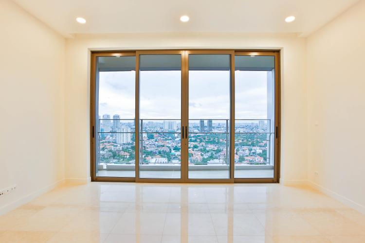 Phòng Khách Căn hộ Nassim Thảo Điền nằm ở tầng cao, tháp B, gồm 2 phòng ngủ, view sông
