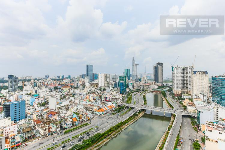 View Căn hộ Masteri Millennium tầng cao, 2 phòng ngủ, view sông Bến Vân Đồn