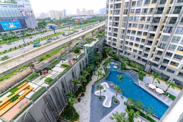 View Cho thuê căn hộ Masteri An Phú 2PN, tầng thấp, tháp B, view hồ bơi và Xa lộ Hà Nội