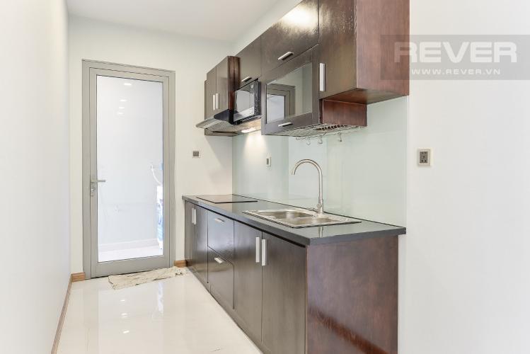 Bếp OfficeTel Vinhomes Central Park 2 phòng ngủ tầng cao P7 nội thất đầy đủ