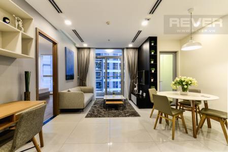 Cho thuê căn hộ Vinhomes Central Park tháp Park 1 tầng trung, 2PN đầy đủ nội thất