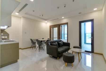 Cho thuê căn hộ Vinhomes Central Park 1PN, tầng thấp, tháp Landmark 81, đầy đủ nội thất