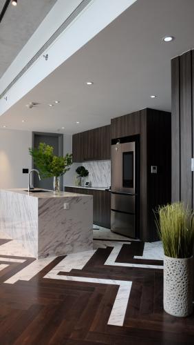Phòng bếp Gateway Thảo Điền, Quận 2 Căn hộ duplex Gateway Thảo Điền thiết kế phong cách Bắc Âu.
