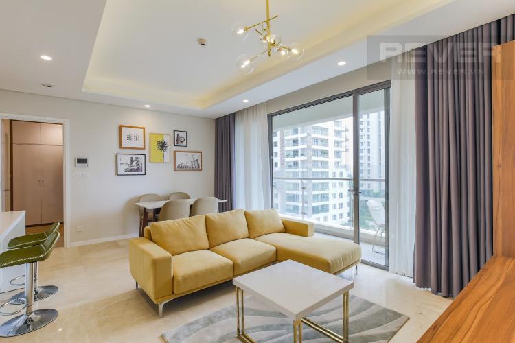 Phòng Khách Bán căn hộ Diamond Island - Đảo Kim Cương 2PN, tháp Maldives, nội thất cơ bản, view nội khu