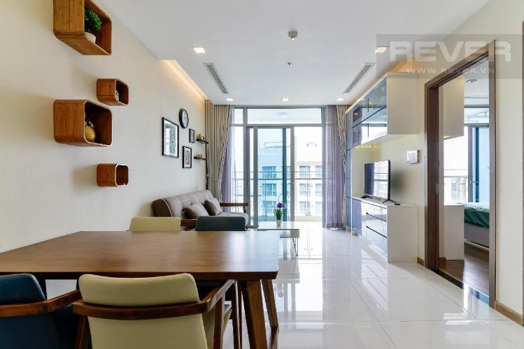 2 Bán căn hộ Vinhomes Central Park 1PN, tháp Park 7, đầy đủ nội thất, view hồ bơi và mé sông