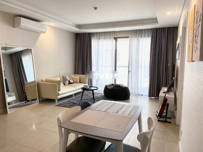 Phòng khách căn hộ Đảo Kim Cương, Quận 2 Căn hộ Đảo Kim Cương hướng Tây Bắc, đầy đủ nội thất tiện nghi.
