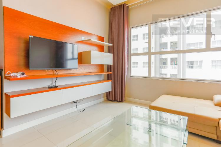 Phòng Khách Căn hộ Sunrise City tầng thấp W3 thiết kế 2 phòng ngủ thông thoáng