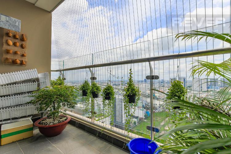 Balcony Bán căn hộ The Gold View tầng cao, 3PN, đầy đủ nội thất, view đẹp