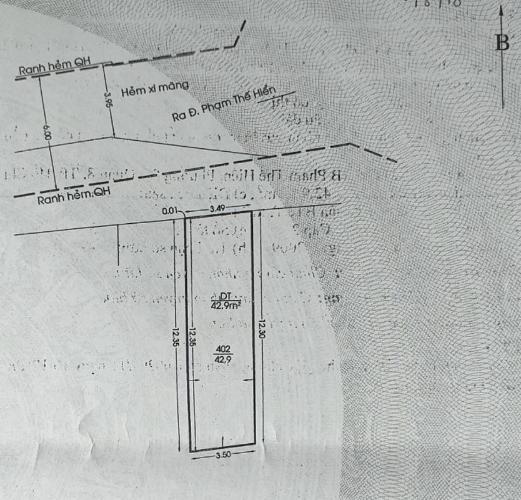 Bản vẻ nhà phố Quận 8 Nhà phố hướng Bắc diện tích sử dụng 134.9m2, khu dân cư an ninh