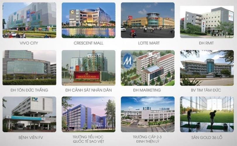 Tiện ích dự án Q7 Saigon Riverside Bán căn hộ view cầu Phú Mỹ - Q7 Saigon Riverside tầng thấp, 1 phòng ngủ, diện tích 69.1m2, nội thất cơ bản.