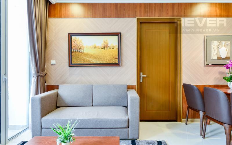 phòng khách Căn hộ Vinhomes Central Park tầng cao Landmark 3 thiết kế đẹp, view sông