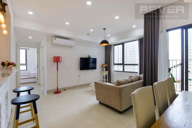 Phòng Khách Căn hộ Masteri Thảo Điền tầng cao, 2PN đầy đủ nội thất, view sông