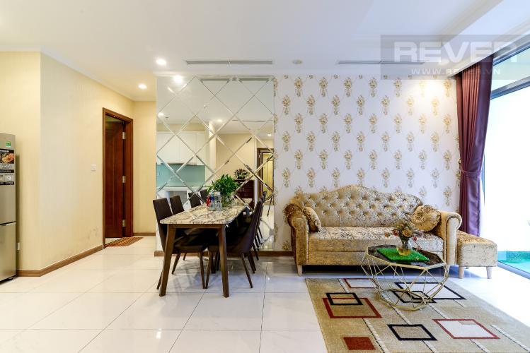 Phòng Khách Bán căn hộ Vinhomes Central Park 2PN, tháp The Central 3, diện tích 81m2, đầy đủ nội thất cao cấp