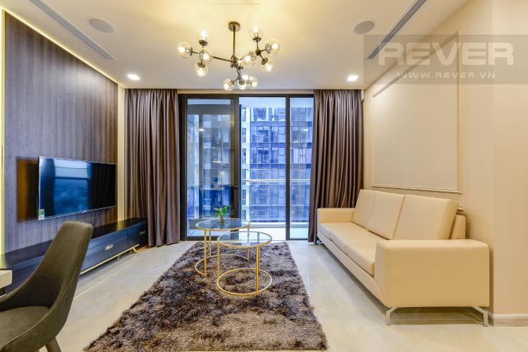 Phòng khách Căn hộ Vinhomes Golden River 2 phòng ngủ tầng cao A1 đầy đủ nội thất