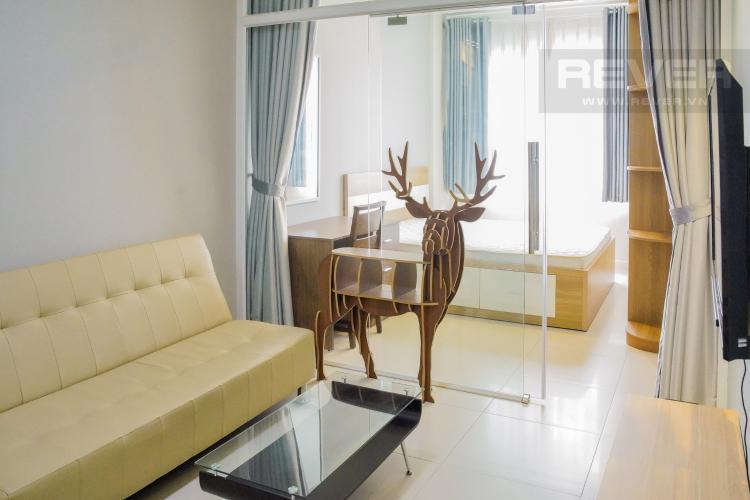 Phòng Khách Bán hoặc cho thuê căn hộ Lexington Residence 1 phòng ngủ, tầng trung, diện tích 48m2, đầy đủ nội thất