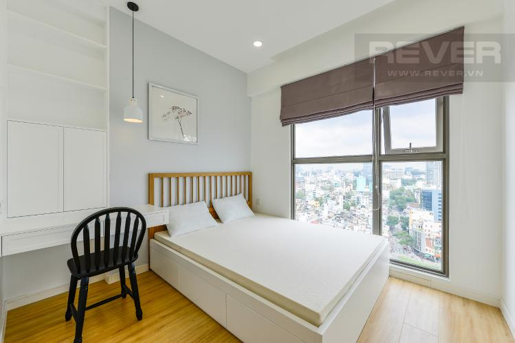 Phòng ngủ 2 Cho thuê căn hộ Masteri Millennium tầng cao, 2PN, view sông