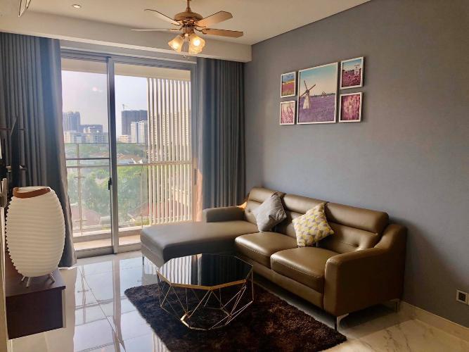 Phòng Khách căn hộ PHÚ MỸ HƯNG MIDTOWN Cho thuê căn hộ Phú Mỹ Hưng Midtown 2PN, diện tích 98m2, đầy đủ nội thất, ban công Đông Nam