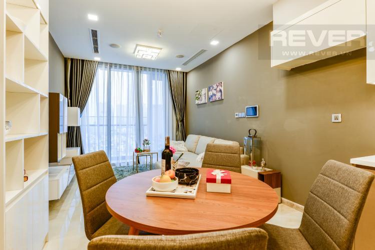 Bàn ăn Bán và cho thuê căn hộ Vinhomes Golden River 1PN đầy đủ nội thất view sông