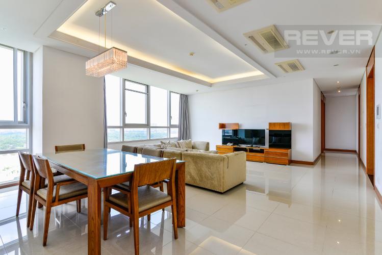 Phòng Khách Cho thuê căn hộ Xi Riverview Palace tầng cao, 3PN, đầy đủ nội thất, view sông