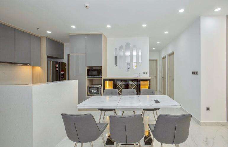 Phòng ăn và bếp căn hộ PHÚ MỸ HƯNG MIDTOWN Cho thuê căn hộ Phú Mỹ Hưng Midtown 3PN, tầng thấp, diện tích 135m2, view công viên Hoa Anh Đào