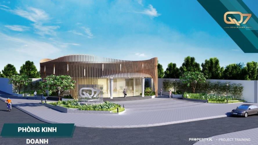 Tiến độ dự án Q7 BOULEVARD Bán căn Officetel Q7 Boulevard diện tích 34.18m2. Ban công hướng Đông