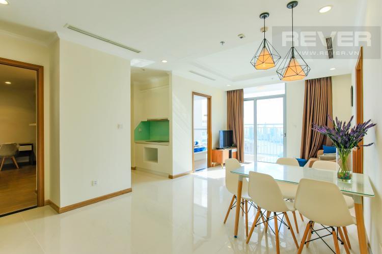 Bàn Ăn Căn hộ Vinhomes Central Park tầng cao L3, 3 phòng ngủ, nội thất đầy đủ