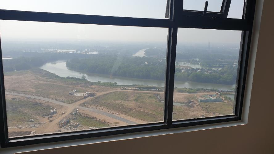 View từ căn hộ Mizuki Park Căn hộ Mizuki Park nội thất cơ bản, view cây xanh và sông.