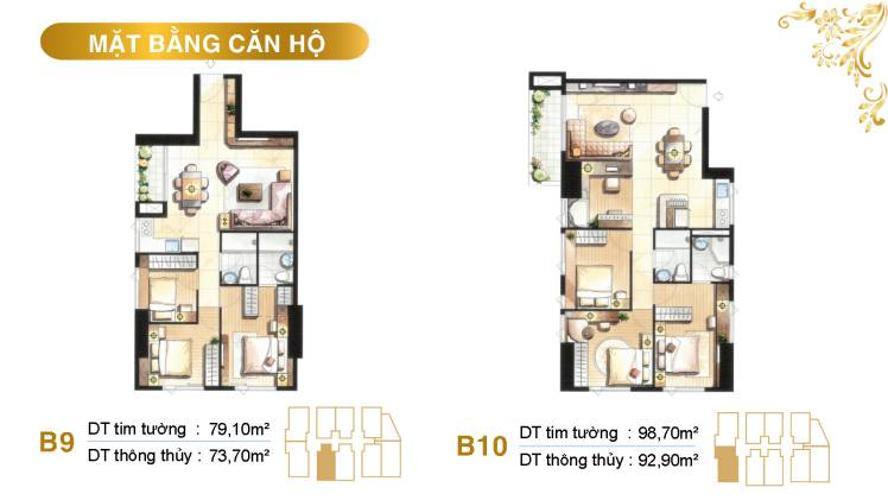 Bán căn hộ 79.1m2, nội thất cơ bản dự án Paris Hoàng Kim
