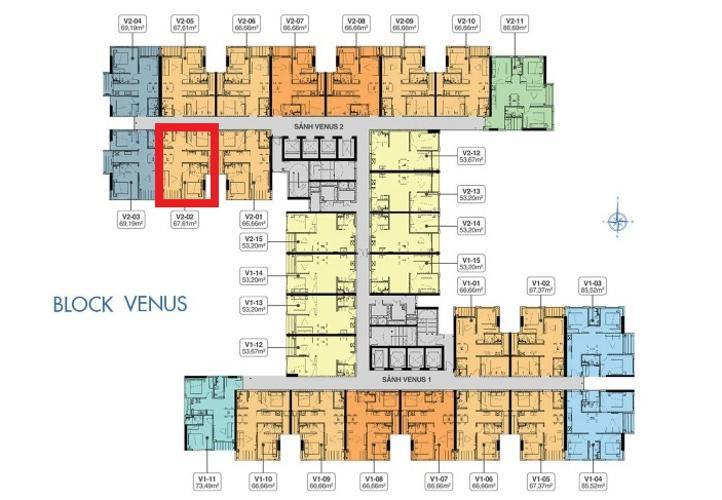 Mặt bằng căn hộ Q7 Saigon Riverside Bán căn hộ Q7 Saigon Riverside  ban công hướng Nam, nội thất cơ bản.