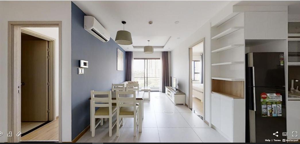 Phòng ăn căn hộ NEW CITY THỦ THIÊM Cho thuê căn hộ New City Thủ Thiêm 2PN, tầng thấp, đầy đủ nội thất, ban công Tây Bắc