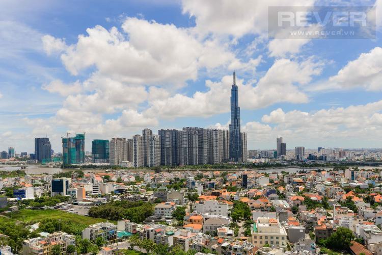 View Mặt Trước Bán penthouse De Capella 3PN, block A, diện tích 193m2, view sông và Landmark 81