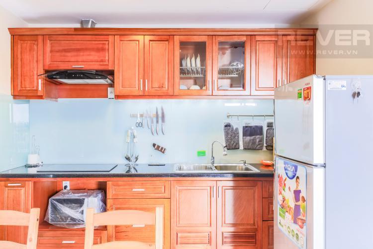 Tủ kệ bếp đầy đủ tiện nghi Căn hộ Masteri Thảo Điền tầng thấp T1B hướng Tây Bắc 1 phòng ngủ