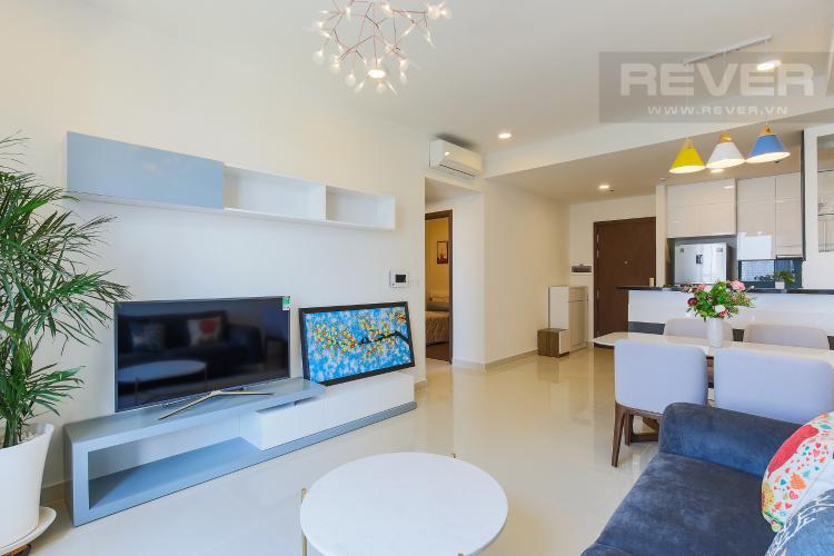 Phòng Khách Căn hộ The Tresor 2 phòng ngủ tầng trung TS1 đầy đủ nội thất