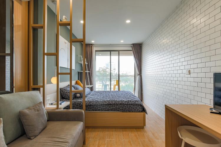 Cho thuê căn hộ Masteri Millennium 1PN 1WC, đầy đủ nội thất, view sông
