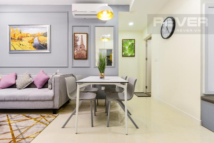 Bàn ăn Cho thuê căn hộ Masteri Millennium tầng cao, view sông 2PN đầy đủ nội thất
