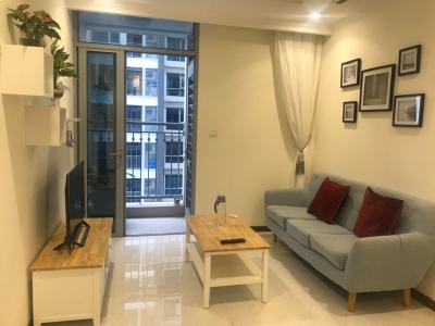 Cho thuê căn hộ Vinhomes Central Park 1PN, tháp Landmark 5, đầy đủ nội thất, hướng ban công Đông Bắc