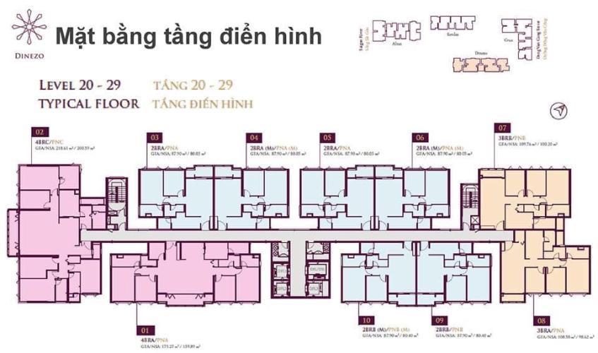 Layout căn hộ Feliz en Vista Căn hộ Feliz En Vista nội thất cao cấp đầy đủ, dọn vào ở ngay