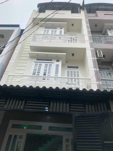 Mặt tiền nhà phố Nguyễn Duy Cung, Gò Vấp Nhà phố hướng Đông, hẻm xe hơi gần đường lớn.