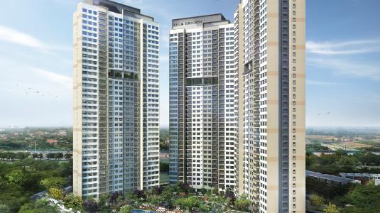 Bán căn hộ Palm Heights 3 phòng ngủ, diện tích 99m2, không nội thất, view thành phố
