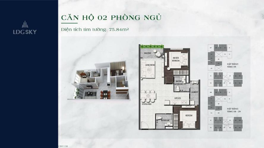 Căn hộ chung cư LDG Sky tầng 10 ban công Tây Nam, nội thất cơ bản sang trọng.