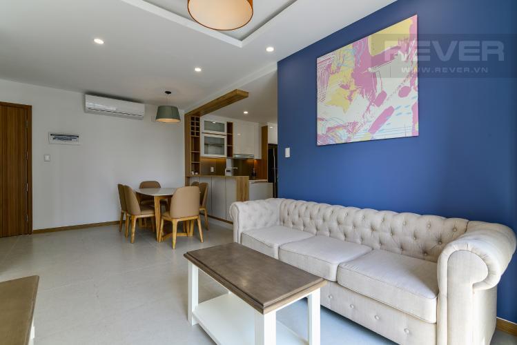 Phòng Khách Cho thuê căn hộ New City Thủ Thiêm 85m2 gồm: 3PN 2WC, hướng Đông Bắc, view nội khu